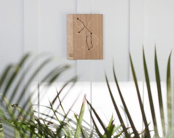 Virgo Constellation Wooden Picture, Zodiac Constellation Wooden Picture, Wooden Picture, Stars