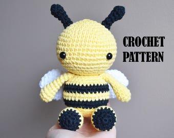 Crochet Amigurumi Pattern: Fern the Bee, Stuffed Toy, Plush, Stuffed Animal, crochet bee toy