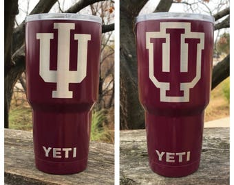 USC - South California Etch - NEW Authentic YETI Rambler or Ozark Trails Custom Powder Coat Dipped