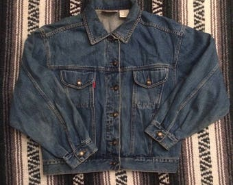 Vintage 90s Bugle Boy For Her Denim Jean Jacket Perfectly Worn In Sz M USED