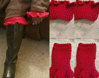 Crochet leg and arm warmer set