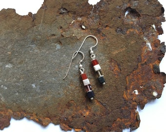 Gemstone earrings with 925 silver elements