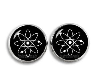 Atom Stud Earrings Atom Earrings Science Earrings 12mm Atom Jewelry