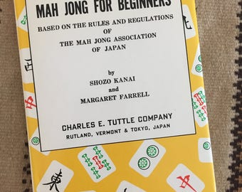Vintage MAH JONG for Beginners Book - New condition