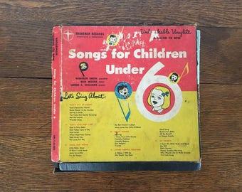 Vintage 1950s Songs For Children Under 6 Records 78 RPM Retro Religious Music Broadman Records