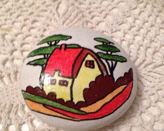 Painted Pebble - Clarice Cliff inspired gift idea
