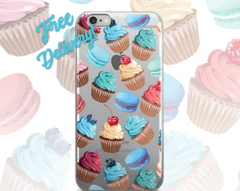 FREE SHIPPING Cupcake Phone Case iPhone 7/7+/6/6S/6+/6S+65/SE, Galaxy S8/8+/7/7Edge/6/6Edge/5/Note5/J7Prime, Huawei P8/8PLite2016/P9/P9Lite