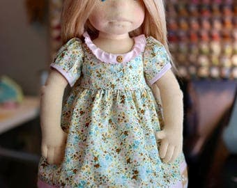Floral with Ruffled collar DOLL Dress