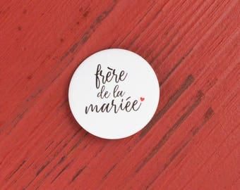 Brother of the bride badge