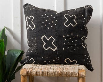 African Mudcloth Pillow Cover - Bouna