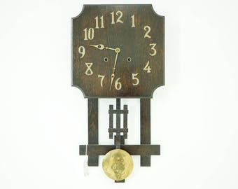 Antique Wall Clock | Mission Oak | 8 Day Movement | B784