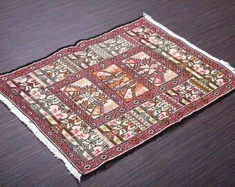 FREE FedEx!!!Turkish Kilim Rug -Anatolian Sumak Kilim, silk,coton,wool rug-handmade woven,71x93=0.66 m2,2x3 ft