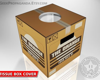 "5"" Tissue box cover Metal Gear Solid the orange box themed"