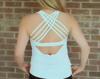 Madeline cross back tank