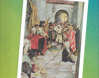 Howard Pyle - Pirates - Blank Greeting Card - Extorting Tribute from the Citizens - 1911