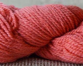 CORAL 2 ply worsted weight wool yarn from our American farm