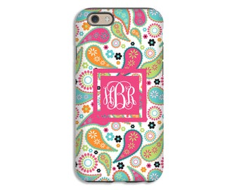 Monogram iPhone 8 case, Paisley iPhone 8 Plus case, boho iPhone 7 Plus case, paisley iPhone 7/6s/6s Plus/6/6 Plus/5s/5 cases, 3D iPhone case