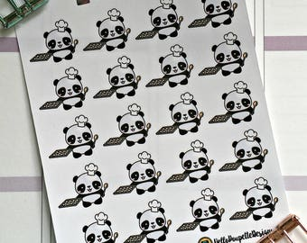 Anna the panda mini stickers - baking