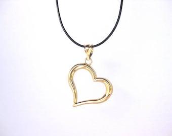 14 K Yellow gold open Heart charm