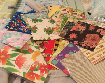 40 pieces of Vintage wrapping Paper