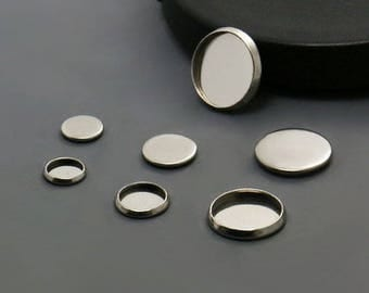 100 pcs of these 12mm cabochon in stainless steel