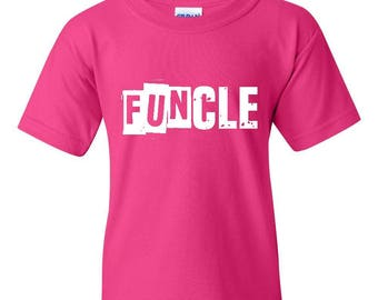 Family T-Shirt Funcle  Unisex Youth Kids T-Shirt Tee
