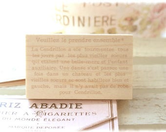 Cyanic Nature Fairy tale script antique wooden rubber stamp