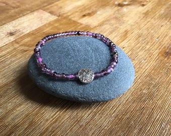 Purple Sunburst Bracelet