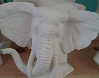 Ready to paint Elephant Bust