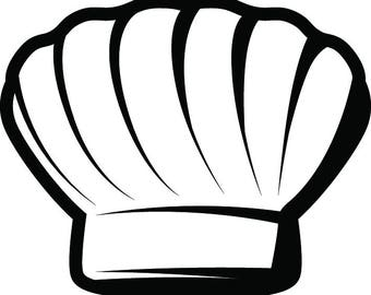 Chef Hat #1 Baker Baking Bakery BBQ Pastry Bread Kitchen Cooking Professional Cook Out Homemade Food.SVG .EPS Vector Cricut Cut Cutting File