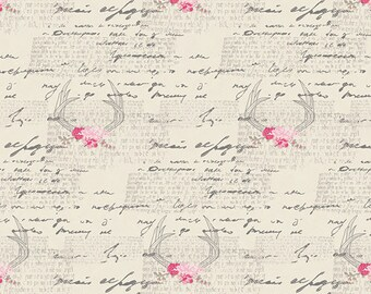 1 yard Amourous Manuscript 100% quilt cotton from Capsule Le Vinatge Chic by Art Gallery Fabric