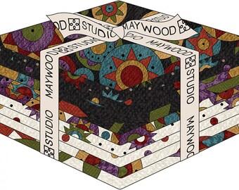 Maywood Sudios Penny Rug 10 piece Fat Quarter Bundle from Bonnie Sullivan, flannel fat quarters,