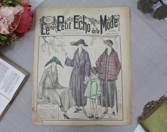 Vintage French Fashion Magazine - 1920's - Le Petit Echo de La Mode - 14th May 1922