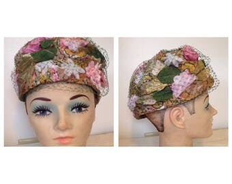 Absolutely Gorgeous Vintage Amy of NY Floral Hat