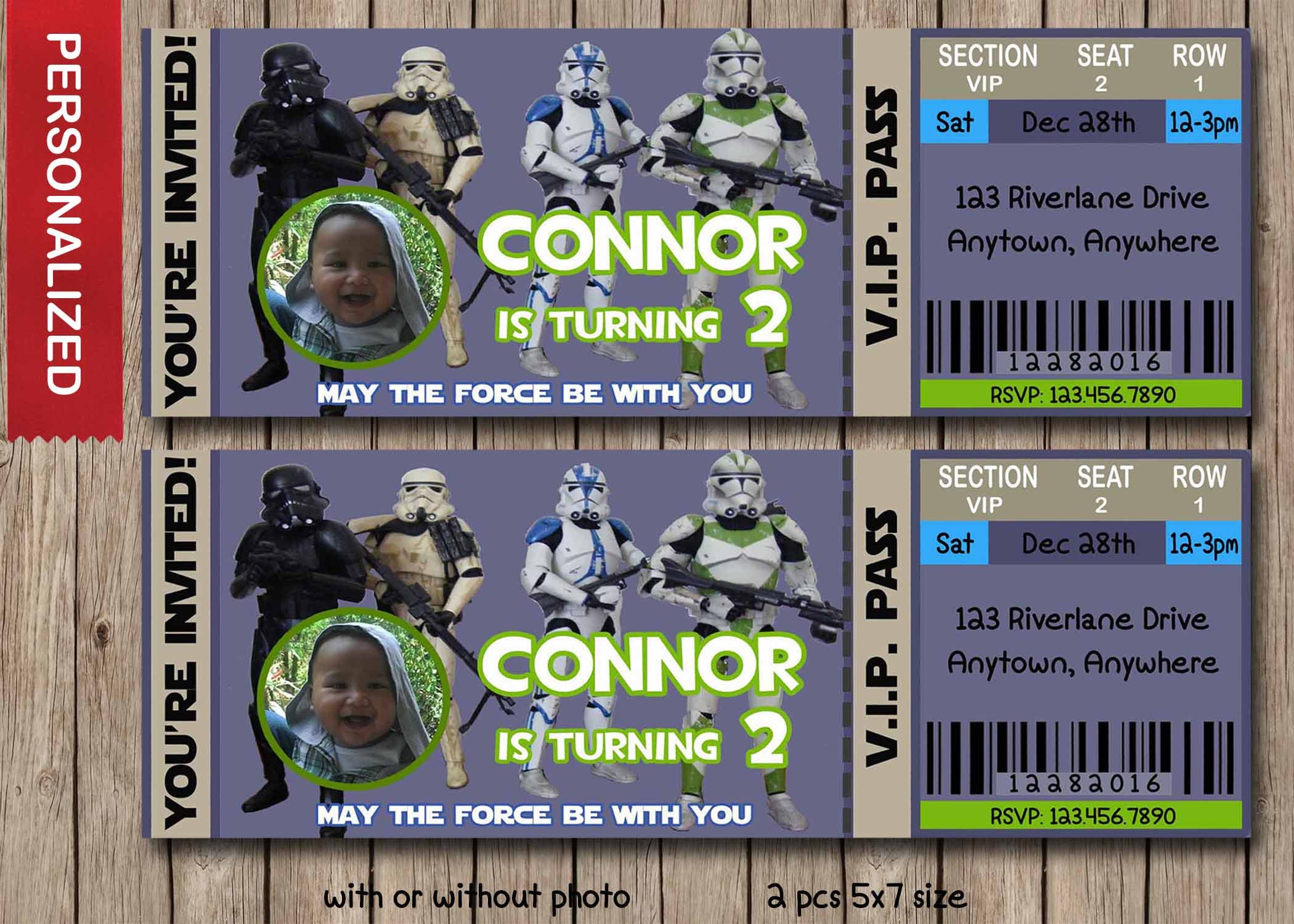 Star Wars Storm Trooper Birthday Invite Star Wars Birthday - Star wars birthday invitation diy