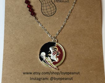FSU jewelry, Seminole necklace, Florida State University necklace, college necklace, college jewelry