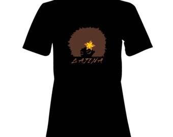 LATINA 100% Cotton Premium SignatureSoft T-Shirt in white or black
