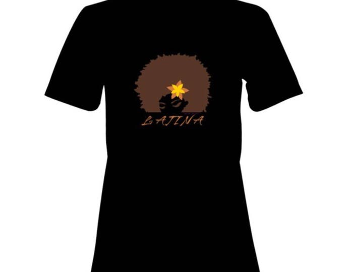 Featured listing image: LATINA 100% Cotton Premium SignatureSoft T-Shirt in white or black