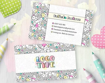Coloring Dot Dot Smile Business Card, DDS Merchandiser Card