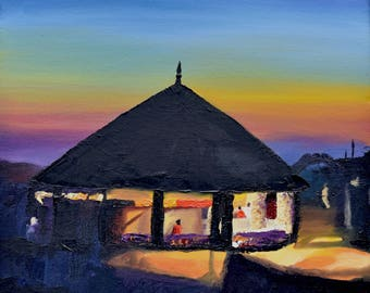 Watch Hill Carousel, Limited Edition Print of Oil Painting