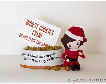 Elf Worst Cookies, Funny Elf Idea, Christmas Elf Accessories, Santa's Elf Prop, Elf Printable, Christmas Elf Ideas, Easy Elf Ideas