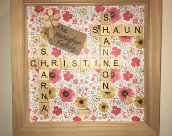 Personalised scrabble frame