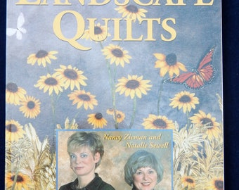 Landscape Quilts - Create Stunning Fabric Paintings by Nancy Zieman and Natalie Sewell - Very Good Condition