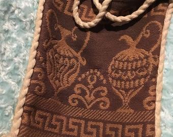 1970s greek themed boho shoulder bag