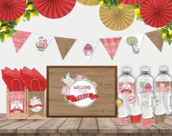 """Printable """"Farmyard Fun"""" Party Decor Pack"""