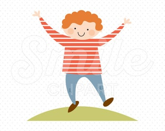 HAPPY BOY Clipart Illustration for Commercial Use | 0026