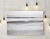 Abstract Photography, Ocean Wave, Grey Tones, California Beach, Water, Minimalist Artwork, Printable Art, Digital Download