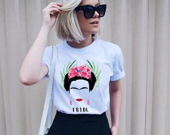 Frida Kahlo T-Shirt Frida Girl Power Outfit Unisex Tshirt Feminist Tee 100% Cotton - 018