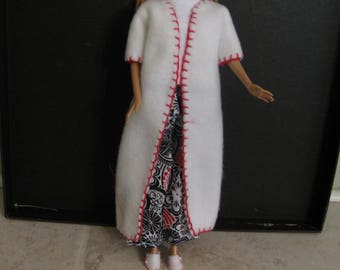 Barbie doll clothes-robe and slippers