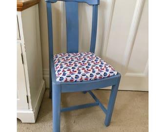 Blue Painted Nautical Chair